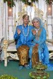 Noivos indonésios Imagens de Stock Royalty Free