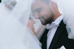 Noivos no casamento fotos de stock
