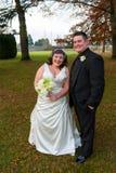 Noivos Portrait no dia do casamento Imagem de Stock