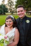 Noivos Portrait no dia do casamento Imagens de Stock Royalty Free