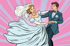 Noivos Wedding da dança ilustração stock