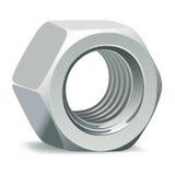 Noix 3D métallique Photographie stock libre de droits