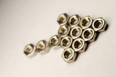 Noix d'acier de flèche Photo stock