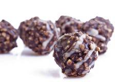 Noix dans le chocolade image stock