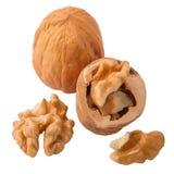 noix de casse-croûte d'isolement par santé de nourriture de fond Photos libres de droits