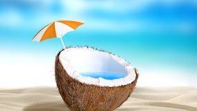 Noix de coco coupée Photographie stock