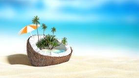 Noix de coco coupée illustration libre de droits