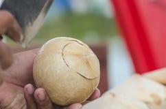 Noix de coco effrayante et par bonbon rôtie Photo stock