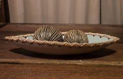 Noix de coco en bois Photos libres de droits