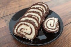 Noix de coco et chocolat Rolls Images stock