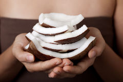 Noix de coco. Ramassage de STATION THERMALE. Image stock