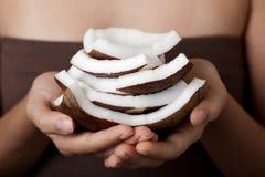 Noix de coco. Ramassage de STATION THERMALE. Image stock