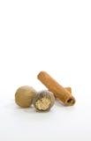 Noix de muscade et cinamon Photo libre de droits