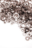 Noix en métal photographie stock