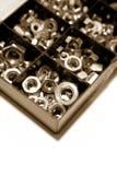 Noix en métal Images libres de droits