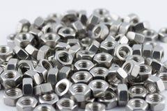 Noix en métal Photographie stock libre de droits