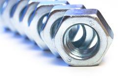 Noix en métal Photo stock