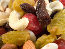 Noix et raisins secs Images libres de droits