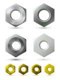 Noix métalliques Photo libre de droits