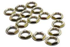 noix métalliques de flèche Photo stock