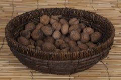 Noix sèches faites par maison Photographie stock libre de droits