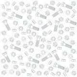 Noix sans joint - et - boulons Photographie stock libre de droits