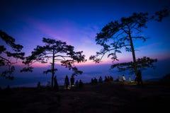 Nok Aen Cliff View point Sunrise Stock Photo