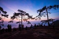 Nok Aen Cliff View point Sunrise Royalty Free Stock Photos