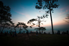 Nok Aen Cliff View point Sunrise Royalty Free Stock Photography