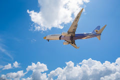 Nok air airways plane landing at Phuket airport Stock Image