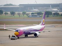 Nok Air Plane, domestic airlines in Thailand Stock Photo