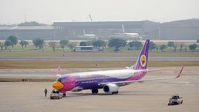 Nok Air Plane, domestic airlines in Thailand Royalty Free Stock Photography
