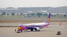 Nok Lotniczy samolot, domowe linie lotnicze w Tajlandia Fotografia Royalty Free
