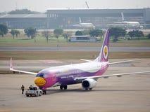 Nok-luftnivå, inhemska flygbolag i Thailand Arkivfoto