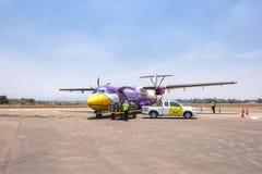 Nok-luftnivån landade på Mae Sod Airport på Maj 08, 2016 i Tak, Thailand royaltyfri fotografi