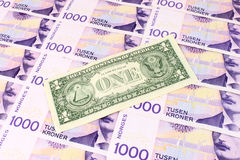 NOK & US Dollar Stock Images