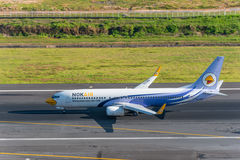 Nokair departed at phuket airport Royalty Free Stock Photo