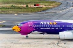 Nokair dróg oddechowych taxi przy Krabi lotniskiem Obraz Royalty Free