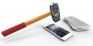 Nokia бьет молотком Стоковые Фотографии RF