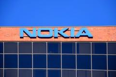 Nokia building outside Ottawa, Canada royalty free stock photo