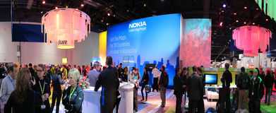 Nokia convention booth at CES 2010 Royalty Free Stock Photos