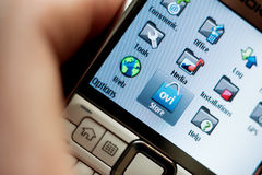 Nokia forntida smartphone Arkivfoton