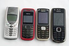 Nokia gamla mobiltelefoner Arkivbilder