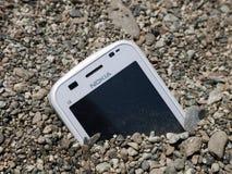 Nokia-konkurrierende Schwierigkeitsfinanziellmetapher Lizenzfreies Stockfoto