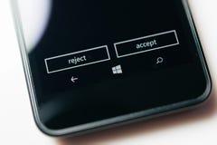Nokia Lumia Microsoft Widowsphone Royaltyfri Fotografi