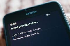 Nokia Lumia Microsoft Widowsphone Fotografering för Bildbyråer