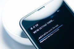 Nokia Lumia Microsoft Widowsphone Royaltyfria Bilder