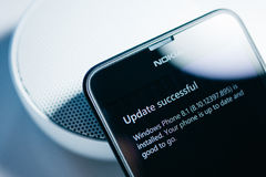 Nokia Lumia Microsoft Widowsphone Immagine Stock Libera da Diritti