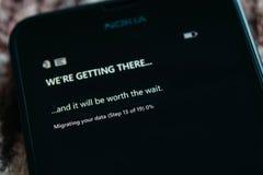 Nokia Lumia Microsoft Widowsphone Arkivbilder