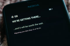 Nokia Lumia Microsoft Widowsphone Imagenes de archivo